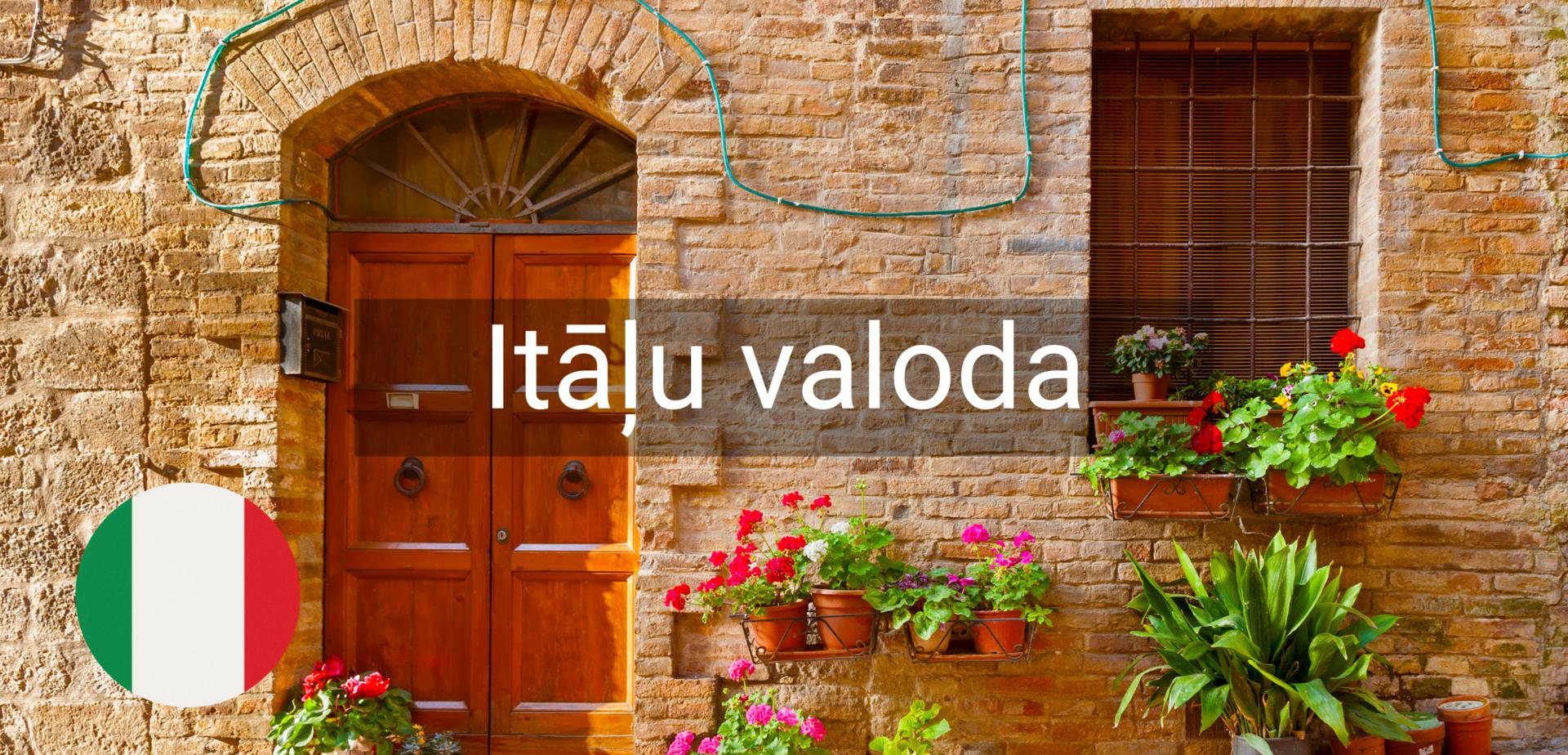 Itāļu valodas kursi valmiera online attālināti