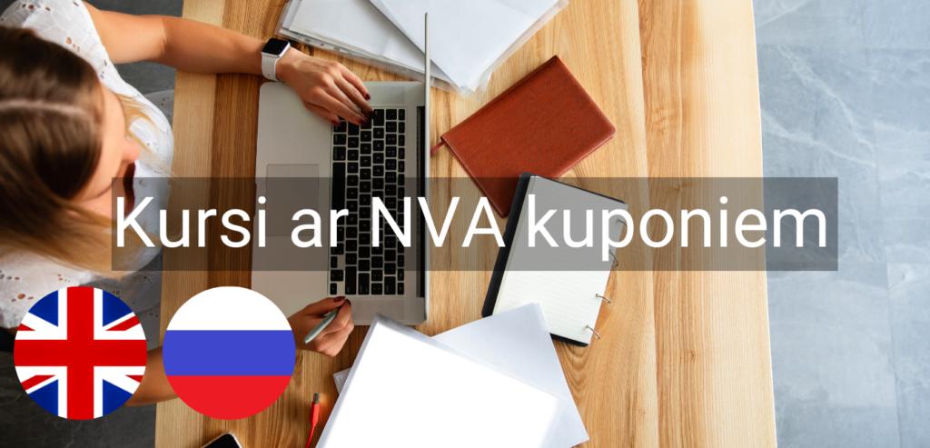 Valodu kursi Valmiera Valodu mape NVA kuponi bezdarbnieku kursi intensīvie svešvalodu kursi online zoom